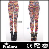 79421 Eudora Brand 2014 New Fashion Casual Women Sexy High Waist Stretch Fitness Comic And Cartoon Print  Wholesale Legging