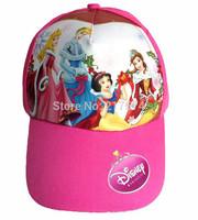 NEW Princess Adjustable Hat Snow White Bella Cinderella Baseball Hat Girl's summer cap 20PCS/LOT