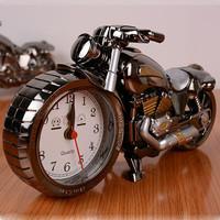 New Style Motorcycle Alarm Clock Cool Fashion Analog Quartz Watch Shape Creative Retro Upscale Home Christmas Birthday Gift