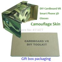 Stock!!DIY Google Cardboard VR Camouflaged Skin Version,3D Google Cardboard Glasses With Printed Instruction