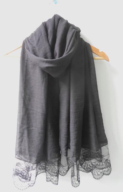 (free shipping)lace shawl muslim shawl ,muslim hijab ,scarf ,viscose 180*90cm can choose colors(China (Mainland))
