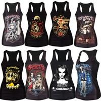 Halloween New 2015 summer 3D sleeveless t shirts Women / Men animals 3d vest tank tops tees plus size hot sale
