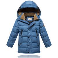 winter long Fur collar hooded children coats outerwear baby boy brand Warm thick down jacket children winter outwear