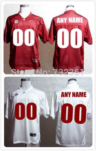 Cheap Customized stitched Personalized Alabama Crimson Tide Jerseys Red White College Football Jerseys For Men Women Kids(China (Mainland))