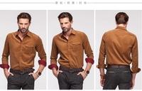Free shippingmen Corduroy shirt full sleeve shirt casual slim fit men shirt popular Fabrics is comfortable