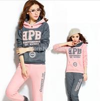 Hot sale women autumn winter plus size clothing set tracksuits,thicken sport suit jogging suits for women sportswear