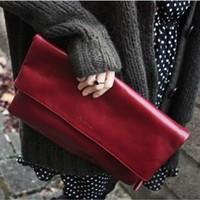 genuine leather handbag fashion clutch  leather envelope bag lady messenger bag