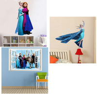 300sets/lot Home Decoration Movie FROZEN Wall Sticker Decals Removable Wall Stickers Home Decor For Kids Rooms