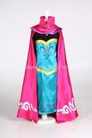 2014 NEW Retail hot sell children/kids/girls frozen dress and cloak / Frozen Elsa Coronation robes / Performance dress