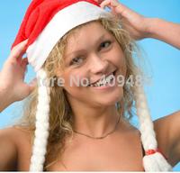 2014 Soft Christmas Cap Men women Hat Xmas Hat Christma Gift Red Free shipping MZ28