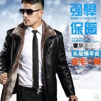 Hot Selling Fur Winter Jacket Men Turn-down Collar Men's Leather Thick Jaqueta De Couro Masculina Jaqueta Masculina M-3XL