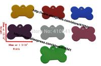 free shipping small puppy bone shaped pet tags pet id tags dog cat tags,30*20mm aluminum dog tags,having stocks!
