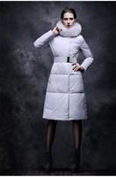 Winter jacket women Coat Down jacket  Goose down Plus size XL Fashion White Girl Long Female Warm Copy fox fur dayrf022