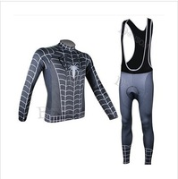FREE SHIPPING!2014 new sportswear men's sports road spiders black Cycling jersey maillot Bike clothing (bib) pant sets ciclismo