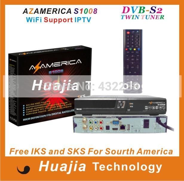 Original azamerica s1008 Brazil World Cup set top box IKS+SKS Support IPTV better than azamerica s1001 s1005 azbox titan(China (Mainland))