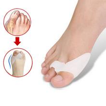 2Pcs/Lot Cheap Silicone Foot Care Tool Gel Foot toe Separator Bunion Protector Straightener Corrector Pedicure Bunion Protector