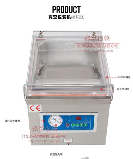 Desktop vacuum packing machine for plastic bag / food sealing macine(China (Mainland))