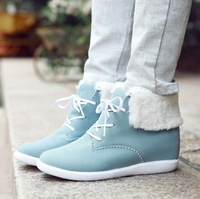 2014 New winter snow boots warm slope slip height increasing cotton boots student  women ankle  boots size35-39  B208