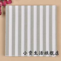 100pcs wide stripes gray tissue napkins wedding & event party tableware Picnic tissue serviette disposable party supplies