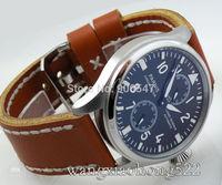 Details about automatic parnis black dial Big Pilot Power Reserve Chronometer mens Watch B066F