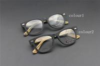 Vintage Acetate prescription eyeglasses Frame Full Rim Cat Eye for man women fashion optical myopia  frame eyewear Wooden  60066