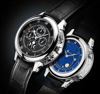 Free Shipping Hot Sale Gold Sky Moon Tourbillon Watch Luxury Brand Auto Watches Men Mechanical Hand Wind Dress watches