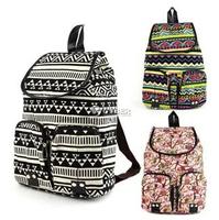 2014 New Arrival Owl Gem Print 3 Colors Charm Canvas Backpack For Girl School Rucksack Shoulder Bags Mochila Promotion Free Ship