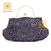 7Colors 2014 New Evening Bag Vintage Bag Bridal Bridesmaid Bag Messenger Bag Day Clutch ,Hot Sale Beaded  Free Shipping