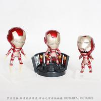 Free Shipping Super Heroes Iron Man 3 Mark XLII MK42 Cute Mini PVC Action Figure Toys Dolls 3pcs/set HRFG149