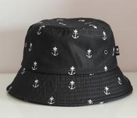 print boat anchor summer bucket hats for men  women hip hop fishing hat