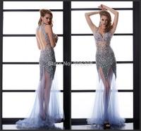 Sexy Open Back Floor Length Charming Mermaid  Evening Dresses vestido de renda Evening Dress vestido de festa Party Dresses