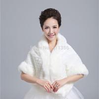 Ivory Faux Fur Wedding Wraps Bridal Shrug Bolero Bride Accessories Jackets Bridal Coat Shawls