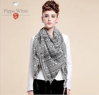 2014 new fall scarf Miss Han Guorong Baroque warm wild geometric print scarf wholesale women