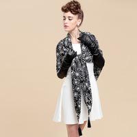 Fall 2014 new Korean cashmere fringed scarf wholesale retro fashion scarf female shawl scarf sunflowers