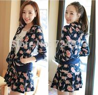 Flower pattern skirt design hot sale women plus size autumn winter tracksuits fashion clothing set,jogging suits for woman