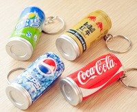 Creative stationery wholesale 36pcs blue ink ballpoint pen beverage pop top can key chain sweet children prize gift toy
