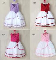 Free Shipping wholesale baby Girls Frozen dress Esla princess dress,girls dresses,girls clothing,4 color can choose-5pcs/1lot