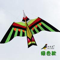 single line huge umbrella fabric kite top umbrella gorgeous multi-colored bird size 300cmx160cm