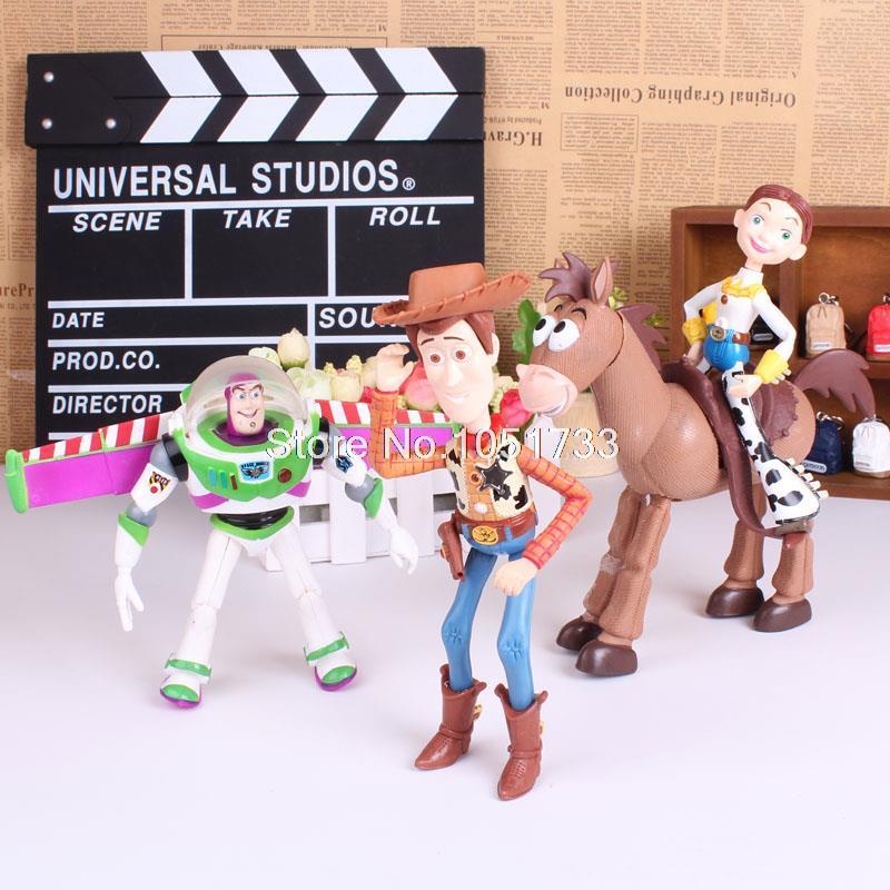 Toy Story 3 Buzz Lightyear Jessie Woody PVC Action Figures Dolls Children Toys 4pcs/set(China (Mainland))