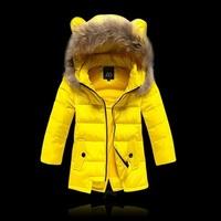High Quailty ! Hot ! Fashion girls winter coat children's down jacket long sections girls thick winter Slim Down parkas outwear