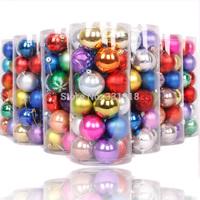 Free shipping Christmas tree 6cm light decoration plastic ball