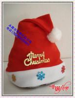 10pcs/lot Christmas hat Christmas decoration christmas gift flower christmas cap santa claus hat christmas hat