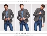 free shipping Hot Sale Blazer Men Stylish Slim Fit Suit Jacket Single Row ONE Button Knitting Blazer Coat Long Sleeve Outwear