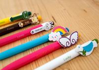 Amazing On Sale 30pcs/lot Kawaii Stationary 0.5mm Cartoon Ballpoint Pen,6 designs for chose