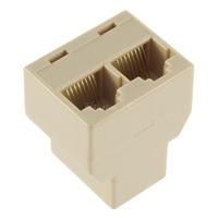1Pcs 1 to 2 Socket Splitter Connector Adapter RJ45 for CAT5 Ethernet Cable LAN Port