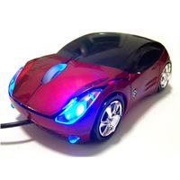 [ Special Offer ] Free shipping New USB Wired Mouse Colorfully Light Car Style For PC Laptop Computer