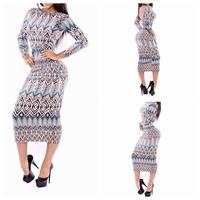 4 free  ship Fashion hot-selling sexy one-piece dress midguts print series one-piece dress