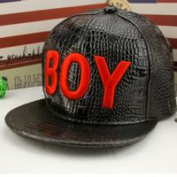 Season autumn/winter 2014 new stylish boys hip-hop baseball cap embroidered BOY flat flaps