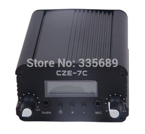 7W 7C FM Transmitter Mini Radio Stereo Station PLL LCD with Antenna *Fashion Black*(China (Mainland))