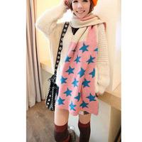 Women New Fashion Knitted Star Flag Printed Patchwork Unisex Autumn Winter Shawl Scarves Scarf Wraps Hijab Bufandas 1SC890